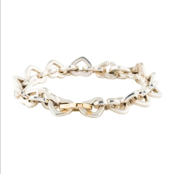 Tiffany & Co. Jewelry - Tiffany & Co. Two Tone Heart Link Bracelet